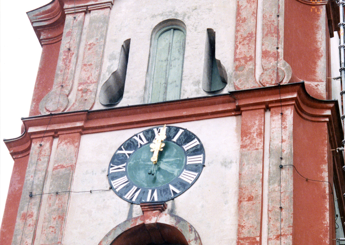 Kirchturm vor der Sanierun